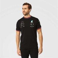 Petronas Summer Tshirts Mercedes Amg F1 Lewis Hamilton Team t Shirts Tee Formula One Men's Polo Pit Grand Prix Sportswear Fast Dry Riding Clothes Lxhj