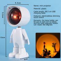 Gece Lambası Günbatımı Projektör Lambaları USB 360 Robot Atmosfer Işıkları Fotoğraf çekmek için Ev Dekorasyon Kahve Dükkanı Bar Romantik Arka Plan Duvar