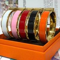 H تيتانيوم الصلب سحر الذهب سوار للمرأة سوار الملونة الصقيل الأزياء هدية للحب WL