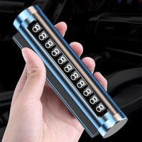 Carte de stationnement temporaire de voiture en métal Tourner de téléphone Numéro de téléphone Stickers en aluminium Stickers d'aluminium STOCK IN ACCESSOIRES AUTO Auto