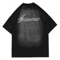 Homens camisetas Polo Camisa Hip Hop Carta Boneca Urso Impressão T Camiseta Streetwear Harajuku T-shirt de Algodão Homens Primavera Verão de Manga Curta Tops Tops Tees GWR4