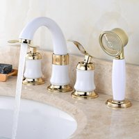 Brass Double Handle Toilet Basin Faucet Shower Head Wall Mounted Bathroom Sink Cold Separate Tap Kitchen Saving Water Faucets