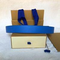 New Black Letter Flower Blue Bottom Blue Belt Bel Best Quality Genuine Pelle Pelle Cintura con box Donners Designer Cinture Designer Cinture MP Vly