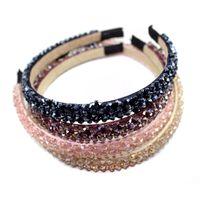 Handmade Sparkly Full Crystal Perline perline Hairbands Rhinestone Hair Hoop per le donne Fashion Fabbands Girls Accessori per capelli da sposa