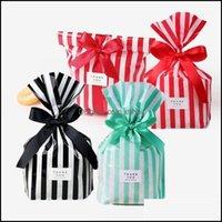 Обертывание события праздничные принадлежности Главная GARDES10PCS / LOT Симпатичные полосы конфеты пластиковые подарочные пакеты для печенья печенье для печенья закуска для выпечки упаковки упаковки Weddin