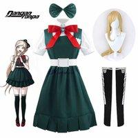 Anime Danganronpa 2 Umutsuzluk Sonia Nevermind Cosplay Elbise Kadın Parti Cadılar Bayramı Kostüm JK Okul Üniforması ve Peruk G0913