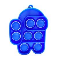 TikTok Push Bubble Sensory Toy Push Bubble Sensory Fidget Toy Relief Stress Relief Keychain Gift Bag Filler DHL Free Stock