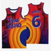 Space Jam James Jersey Film 23 Michael 1 Bugs Bunny! TAZ 13 Tweety 22 Bill Murray 10 Lola 2 D.Duck Basketball-Trikots 99