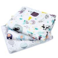 [Simfamily] 1pc Muslin 100% algodón bebé swaddles suave recién nacido mantas de baño Gauze de baño Wrap de bebé Sleepsack Play Funda Play Mat Q1221 626 Y2