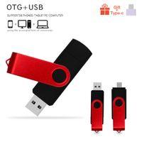 사용자 정의 로고 USB 2.0 플래시 드라이브 펜 드라이브 4GB 8GB 16GB Pendrive 32 GB USB 메모리 스틱 64GB OTG 금속 컴퓨터 / 안드로이드 전화