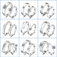 Wedding Rings 2021 925 Sterling Silver High Quality Crystal Zircon Six Crown For Men Women Accessories Jewelry Wholesale
