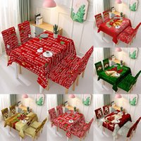 Table Cloth Christmas Decoration Tablecloth And Chair Cover Elastic One-piece Printed Wedding