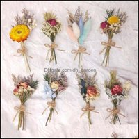 Decorative Festive Party Supplies Gardendecorative Flowers & Wreaths Mini Real Natural Dried Flower Bouquet Rose Pampas Grass Gypsophila Pla