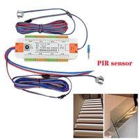 Strips 32 Channels Stair LED Motion Sensor Controller DC 12V 24V Indoor PIR Night Light Dimmer For Stairs Flexible Single Color Strip