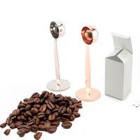 Spresso à double usage cuillère à café cuillère à la cuillère à la mesure de la cuillère à café de cuivre de café en acier inoxydable accessoires de café en acier inoxydable OWF6218