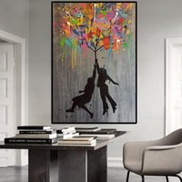 Paintings Abstract Graffiti Canvas Poster Modern Street Art Banksy Balloon Girl Cuadros Wall Picture For Living Room Home Decor Frame
