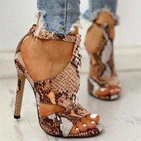Sandals Women Pumps Snake Wedding Shoes Summer Low Heel PU Gladiator Luxury Designers Zapatos De Mujer