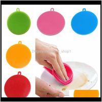 متعددة الوظائف SILE السلطانية الملونة سحر وعاء فرشاة تجوب وسادة عموم غسل فرش المطبخ أدوات التنظيف GM9RN M2WAB