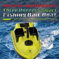 مكتشف الأسماك GPS 500 متر التحكم عن بعد rc الصيد الطعم قارب السيارات كروز 2 كيلوجرام تحميل 3 hoppers التعشيش مع اللعب