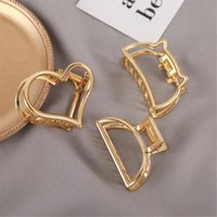 Hair Clips 2021 Women Girls Geometric Claw Clamps Crab Moon Shape Clip Solid Color Accessories Hairpin