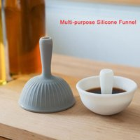 Mutfak Aracı Mini Silikon Huni İşlevli Splash Korumalı Yapışkan Olmayan Yağ Funnels Baharat Çanak Sıvı Transferi