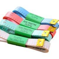 Corpo colorido portátil Régua de medição de polegada de costura de costura fita métrica macio ferramenta 1,5m costura fitas presente de natal