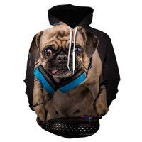 Мужские толстовки модные дизайнеры осенью и зимняя домашняя собака серия собаки милая цифровая печать с длинным рукавом кофты идеально подходят для джинсов и штанов