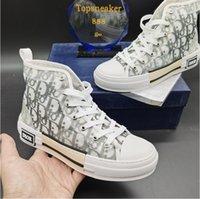 B23 Наклонный Классический холст Случайные Человек Кружевные Обувь Мужская Кроссовки Женщины Модные кроссовки Белый и черный с коробкой