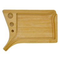 Natural Bamboo Smoking Rolling Tray With Pre Rolled Cone Holder 90MM*132MM Multifunctional Bamboos Tobacco Cigarette Trays Case