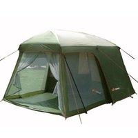 Person Tourism Camping Tent Waterproof Double Layer One Bedroom And Living Room Family Party Outdoor Gazebo Tents Shelters