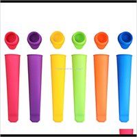 Tools 6X Sile Push Up Frozen Stick Ice Pop Yogurt Jelly Lolly Maker Mould E0Tbq Phb5J