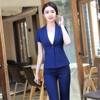 New Styles Summer Formal Pant Suits for Women Business Suits Ladies Work Wear Uniforms Blazer and Jacket LZ3191