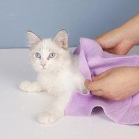 Groß 66 * 43 * 0,2 cm super absorbierendes handtuch Schnelltrocknung Haustierbad weich l maschinenwaschbar geeignet für Hunde und Katzen Jede Größe Haustiere