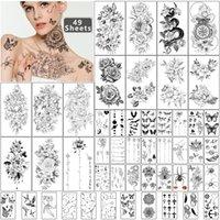 Meter, 49 Blatt wasserdichte temporäre Tattoo-Aufkleber von einzigartigen Bildern oder Totem für Männer Frauen ausdrücklich Körperkunst