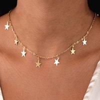 Suqi non-faibles en acier inoxydable animal papillon étoile étoile dorée collier femmes couker colliers pendentifs femme chaîne bijoux cadeaux y0309