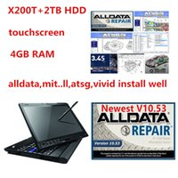 Alldata 10.53 mit auto repair soft-ware vivid workshop data atsg 2TB HDD in X200t laptop 4g