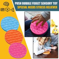 Tiktok Party Favor kids adult Push Pop Bubble Fidget Toys Autism Needs Squishy Stress Reliever Toy Child Baby rainbow Funny Anti-stress Reliver Sensory plaything