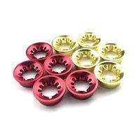 Plommon Blossomtrim Ring Aluminiumlindning Kontrollera Dekorativa DIY Fiske Stång Part Reparation Komponenter 4 st Gold Färg ID 11mm Båtstänger
