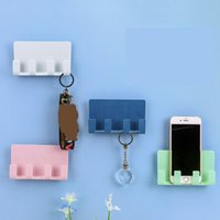 Cell Phone Mounts & Holders Universal Stents Portable Wall Charger Hook Holder Hanging Stand Bracket Charge Hanger Rack Shelf Mobile