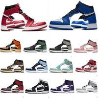 2021 Mens Jordânia 1s Sapatos de Basquete Dunk Og 1 UNC University Off Travis Scotts Azul Sapato Vermelho Chicago Jumpman Treinadores Homens Mulheres Sports Sneakers com Caixa 36-46