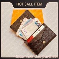 عملة محفظة محفظة جيب N63338 الرجال الأزياء visite enveloppe الأعمال المنظم بطاقة تذكرة حامل مفتاح الائتمان الفاخرة de case مصمم m gclt