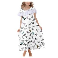 4# Explosion Nightgowns Short Sleeve Cute Princess Lace Nigh...