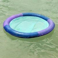Inflatable Floats & Tubes Summer Round Floating Row Water Hammock Sunbath Lounger Sleeping Mattress Bed Versatile Air Mattresses