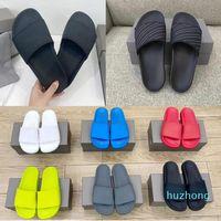 2021 SS terlik erkek bayan yaz plaj slayt sandalet Comfort flip floplar deri geniş bayanlar bayan ayakkabı kutusu ile