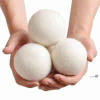 كرات مجفف الصوف منتجات الغسيل قابلة لإعادة الاستخدام النسيج الطبيعي المنقي يقلل الكرة النظيفة الساكنة يساعد الملابس الجافة في غسيل الملابس أسرع FWF6075