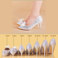 Sparkly Rhinestones Wedding Dress Shoes Bridal Pumps Stiletto Heel Party Pageant Evening Prom Guest Women Dance Flats High Heels Custom Made Small Big Size 33 To 42