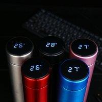 موضة جديدة الذكية القدح عرض درجة الحرارة فراغ المقاوم للصدأ زجاجة المياه غلاية الحرارية كوب مع شاشة لمس الشاشة LCD كأس هدية DBC