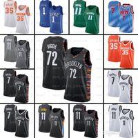 7 Kevin 11 Kyrie 34 Giannis Irving Antetokounmpo Durant 13 Harden BrooklynRedesZ7 ncaa jerseys de basquete
