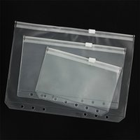 Pvc A5 a6 a7 Binder Cover Clear Zipper Storage Bag 6 Hole Waterproof Stationery Bags Office Travel Portable Document Sack