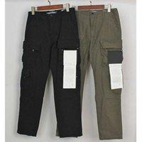 Mens Track Pants Badge Patches Buchstaben Design Mode Jogger Fracht Hosen Reißverschluss Fliegen lange Hose